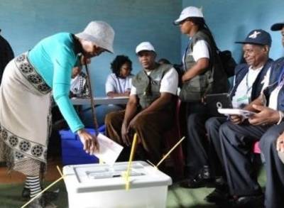 News video: Ballots Cast in Lesotho Elections
